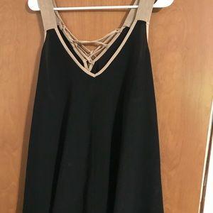 Black and Tan tank top